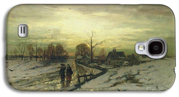 Snow Scene  Sunset Galaxy S4 Case