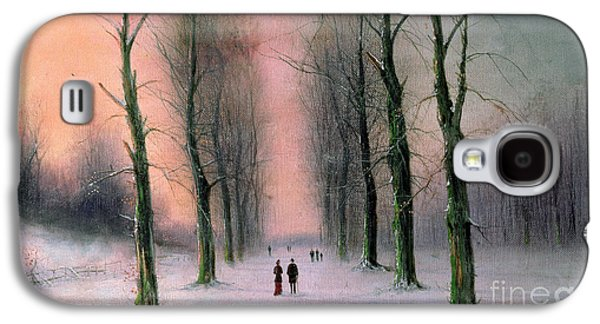 Snow Scene Wanstead Park   Galaxy S4 Case by Nils Hans Christiansen