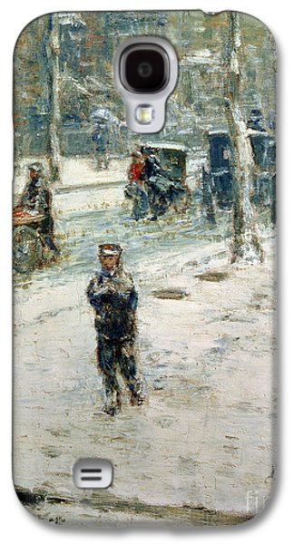 Snow Storm On Fifth Avenue Galaxy S4 Case by Childe Hassam
