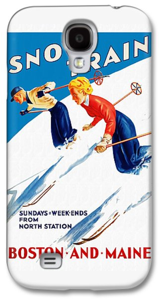 Snow Train - Restored Galaxy S4 Case by Vintage Advertising Posters