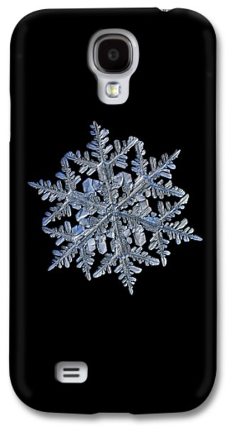 Snowflake Macro Photo - 13 February 2017 - 3 Black Galaxy S4 Case