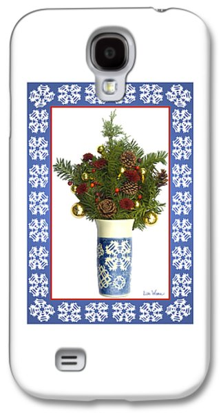 Snowflake Vase With Christmas Regalia Galaxy S4 Case by Lise Winne