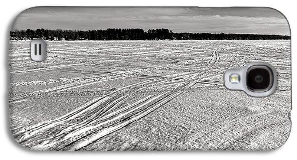 Snowmobile Tracks On China Lake Galaxy S4 Case