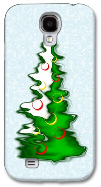 Snowy Christmas Tree Galaxy S4 Case