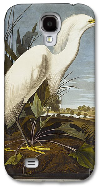 Snowy Heron Galaxy S4 Case by John James Audubon
