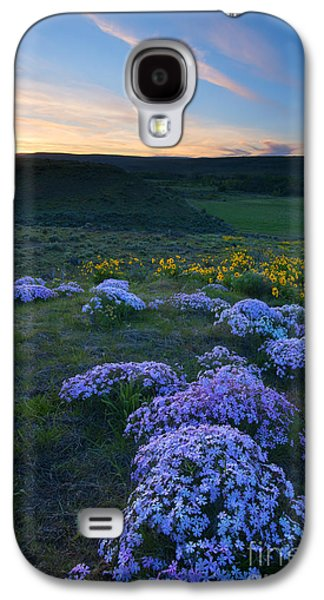 Snowy Phlox Sunset Galaxy S4 Case by Mike Dawson