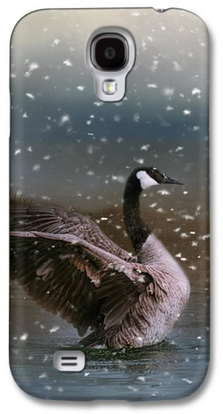 Snowy Swim Galaxy S4 Case by Jai Johnson