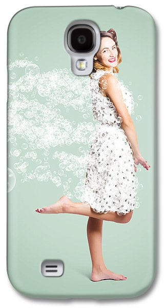 Soap Suds Pin Up Girl Galaxy S4 Case by Jorgo Photography - Wall Art Gallery