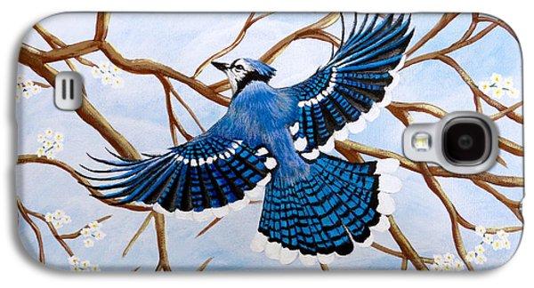 Soaring Blue Jay  Galaxy S4 Case by Teresa Wing