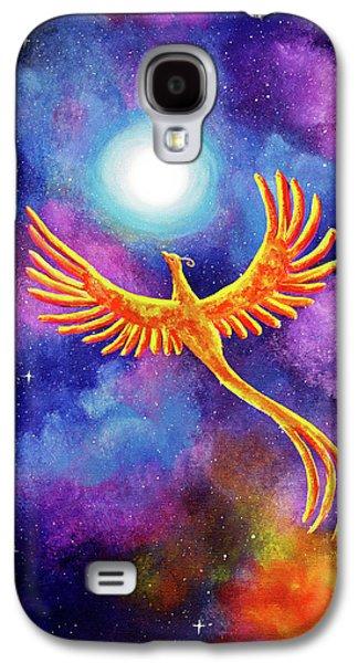 Soaring Firebird In A Cosmic Sky Galaxy S4 Case by Laura Iverson