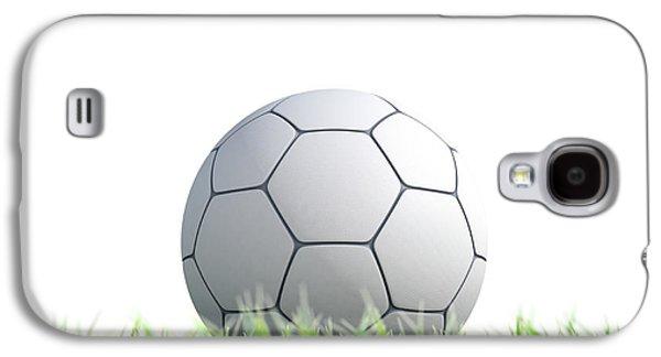 Soccer Ball Resting On Grass Galaxy S4 Case