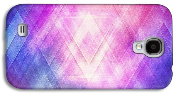 Soft Modern Fashion Pink Purple Bluetexture  Soft Light Glass Style   Triangle   Pattern Edit Galaxy S4 Case by Philipp Rietz
