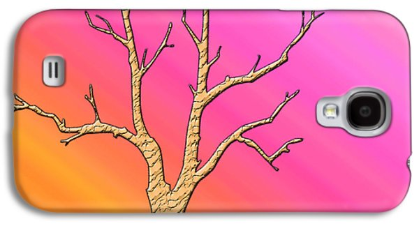 Soft Pastel Tree Abstract Galaxy S4 Case