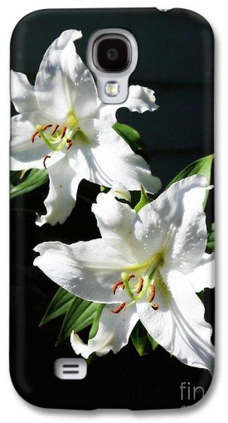 Soft White Lilies Galaxy S4 Case by Carol Groenen