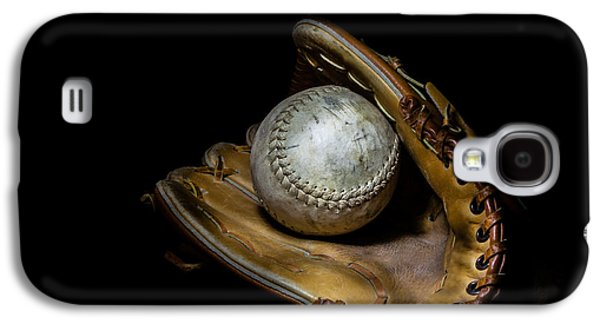 Softball And Glove Galaxy S4 Case by Erin Cadigan