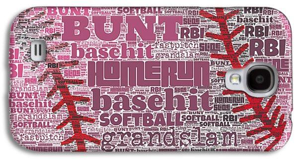 Softball  Galaxy S4 Case by Brandi Fitzgerald