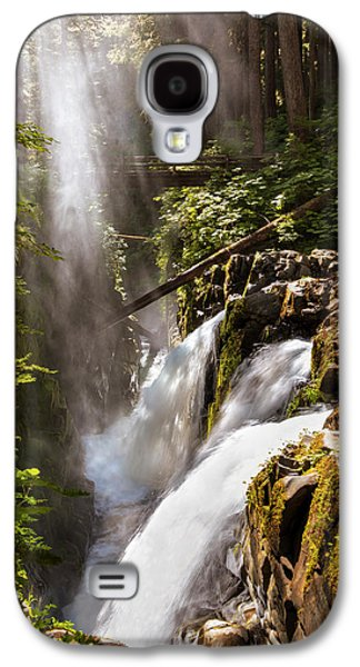 Galaxy S4 Case featuring the photograph Sol Duc Falls by Adam Romanowicz
