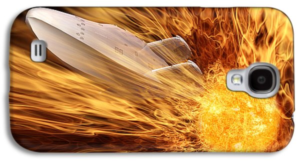 Sun Galaxy S4 Cases - Solar Flare Galaxy S4 Case by John Edwards