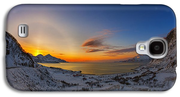 Solar Halo And Sun Pillar, Norway Galaxy S4 Case
