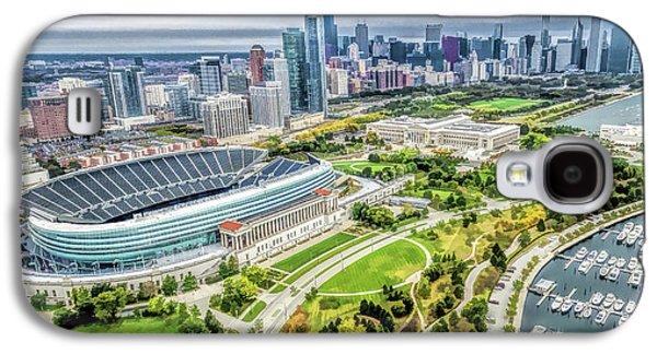 Soldier Field Galaxy S4 Case - Soldier Field Chicago Skyline by Christopher Arndt