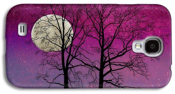 Solitude II Harvest Moon, Pink Opal Sky Stars Galaxy S4 Case