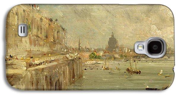 Somerset House Terrace From Waterloo Bridge Galaxy S4 Case by John Constable