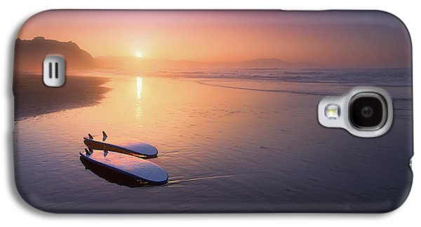 Sopelana Beach With Surfboards On The Shore Galaxy S4 Case