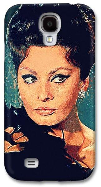 Sophia Loren Galaxy S4 Case by Taylan Apukovska