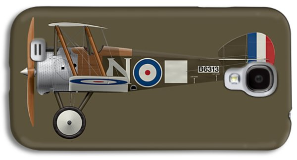 Sopwith Camel - B6313 March 1918 - Side Profile View Galaxy S4 Case by Ed Jackson