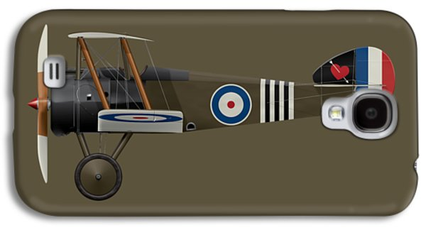 Sopwith Camel - B6313 June 1918 - Side Profile View Galaxy S4 Case by Ed Jackson