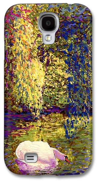 Impressionism Galaxy S4 Case - Swans, Soul Mates by Jane Small