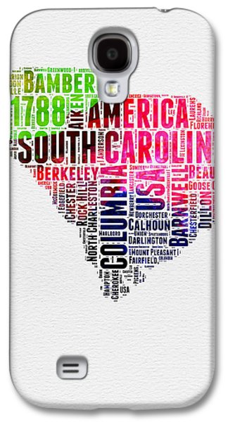 South Carolina Watercolor Word Cloud Galaxy S4 Case by Naxart Studio