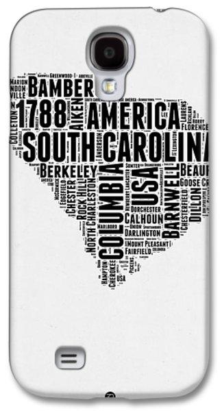 South Carolina Word Cloud 1 Galaxy S4 Case by Naxart Studio
