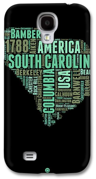 South Carolina Word Cloud 2 Galaxy S4 Case by Naxart Studio