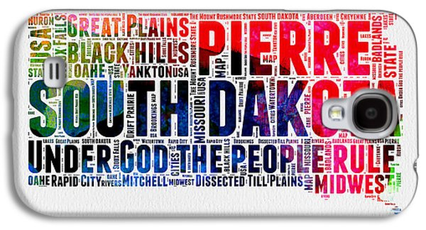 South Dakota Watercolor Word Cloud Galaxy S4 Case by Naxart Studio