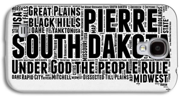 South Dakota Word Cloud 1 Galaxy S4 Case by Naxart Studio
