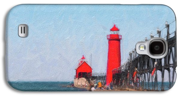 South Pier Of Grand Haven Galaxy S4 Case by Tom Mc Nemar