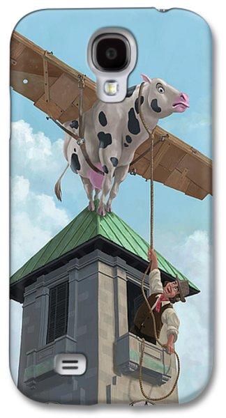 Southampton Cow Flight Galaxy S4 Case by Martin Davey