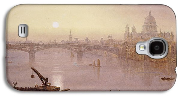Southwark Bridge And St. Paul's Cathedral From London Bridge  Evening Galaxy S4 Case by George Fennel Robson