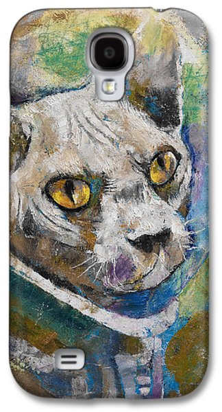 Space Cat Galaxy S4 Case by Michael Creese