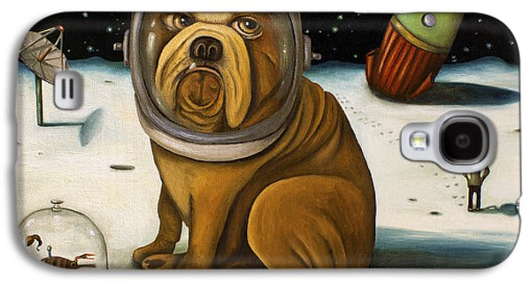 Dog Galaxy S4 Case - Space Crash by Leah Saulnier The Painting Maniac