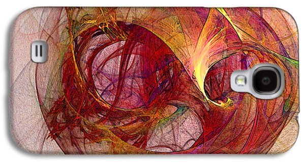 Space Demand Abstract Art Galaxy S4 Case