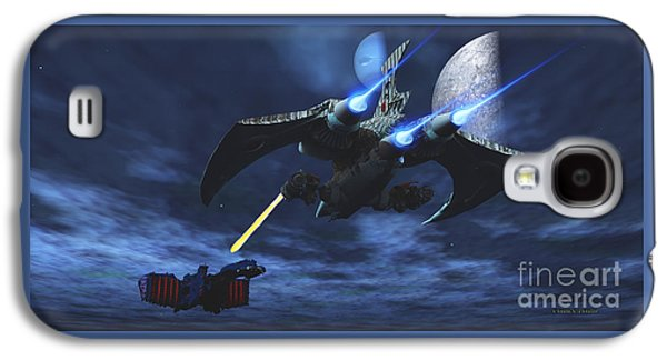 Space Fight Galaxy S4 Case