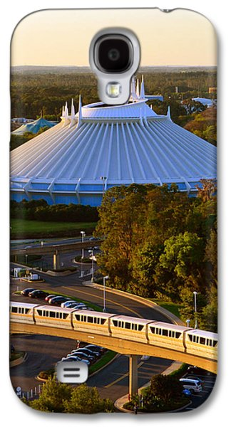 Space Mountain And Monorail Peach Galaxy S4 Case by David Lee Thompson