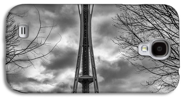 Space Needle Bw Galaxy S4 Case