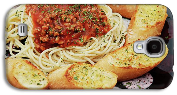 Spaghetti And Meat Sauce With Garlic Toast  Galaxy S4 Case