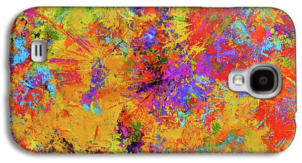 Sparks Of Consciousness Modern Abstract Painting Galaxy S4 Case by Patricia Awapara