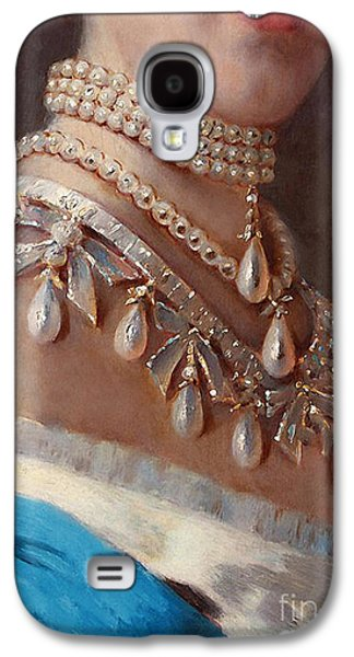 Historical Fashion, Royal Jewels On Empress Of Russia, Detail Galaxy S4 Case by Tina Lavoie