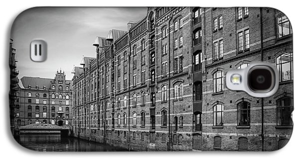 Speicherstadt Hamburg Germany In Black And White Galaxy S4 Case