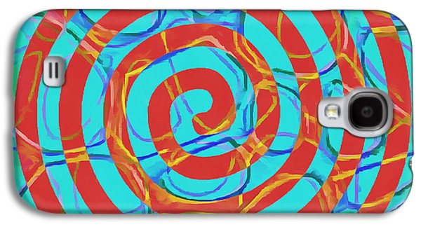 Spiral Abstract 1 Galaxy S4 Case by Edward Fielding